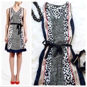 Forenza Multi Patterned V Neck Dress XS